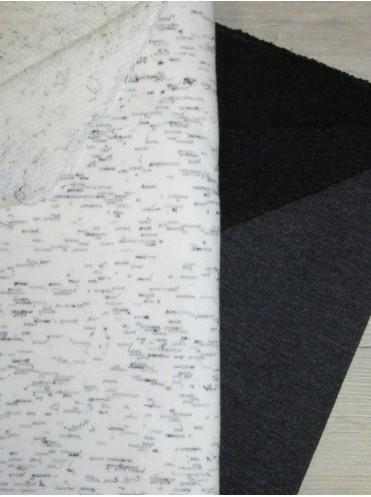 Футер Антрацит меланж, 3-нитка, петля диагональ