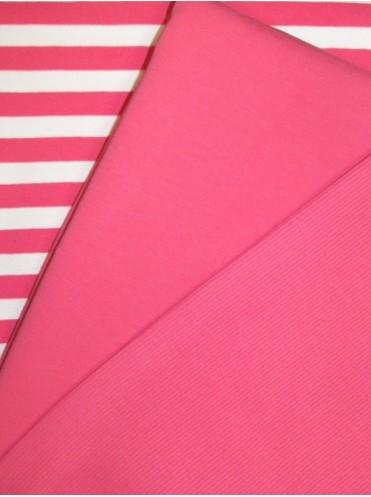 Футер Розовый Темный, 2-нитка с лайкрой, изнанка петля