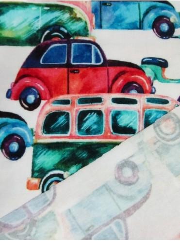 Кулирка с лайкрой Автобусы/машины