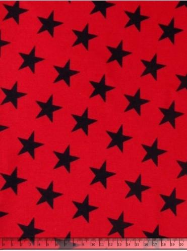 Рибана Звезды т. синие на красном, с лайкрой
