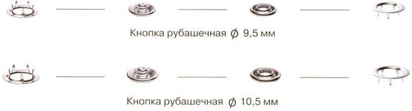 Кнопки рубашечные 9,5 мм и 10,5 мм.