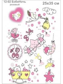Термотрансфер 12-02 БэбиНочь розовая
