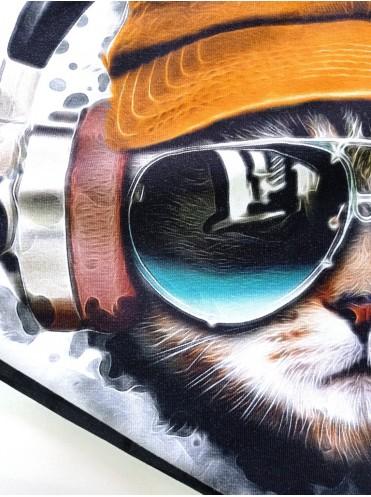 Кулирка купон Кот в наушниках, 65*180 см