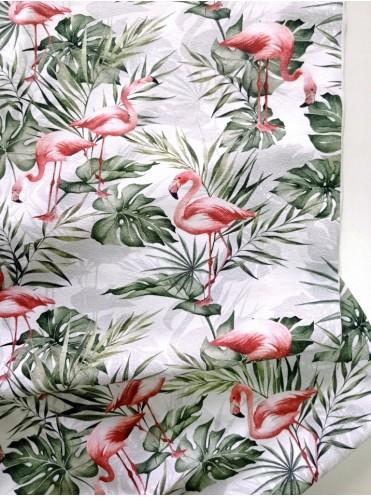 Кулирка Фламинго на белом, с/л