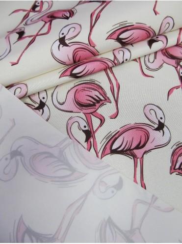 Dewspo Фламинго на кремовом фоне